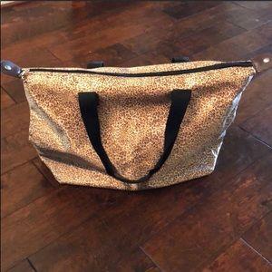 Handbags - Leopard Print Zipper Tote Bag